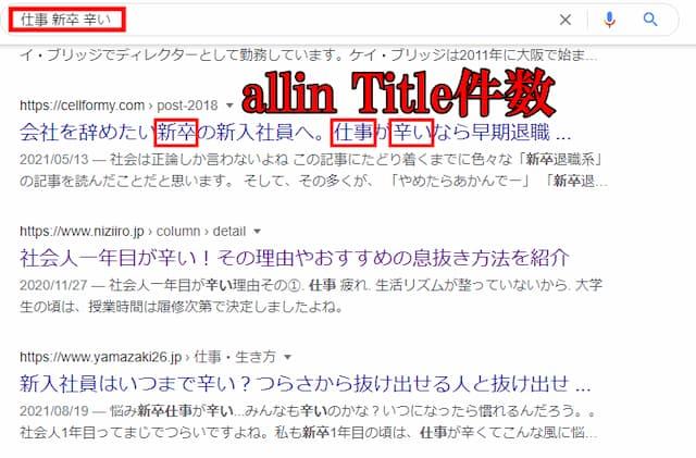 allin Title件数